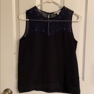 American Eagle Outfitters Navy & Black Tank Top